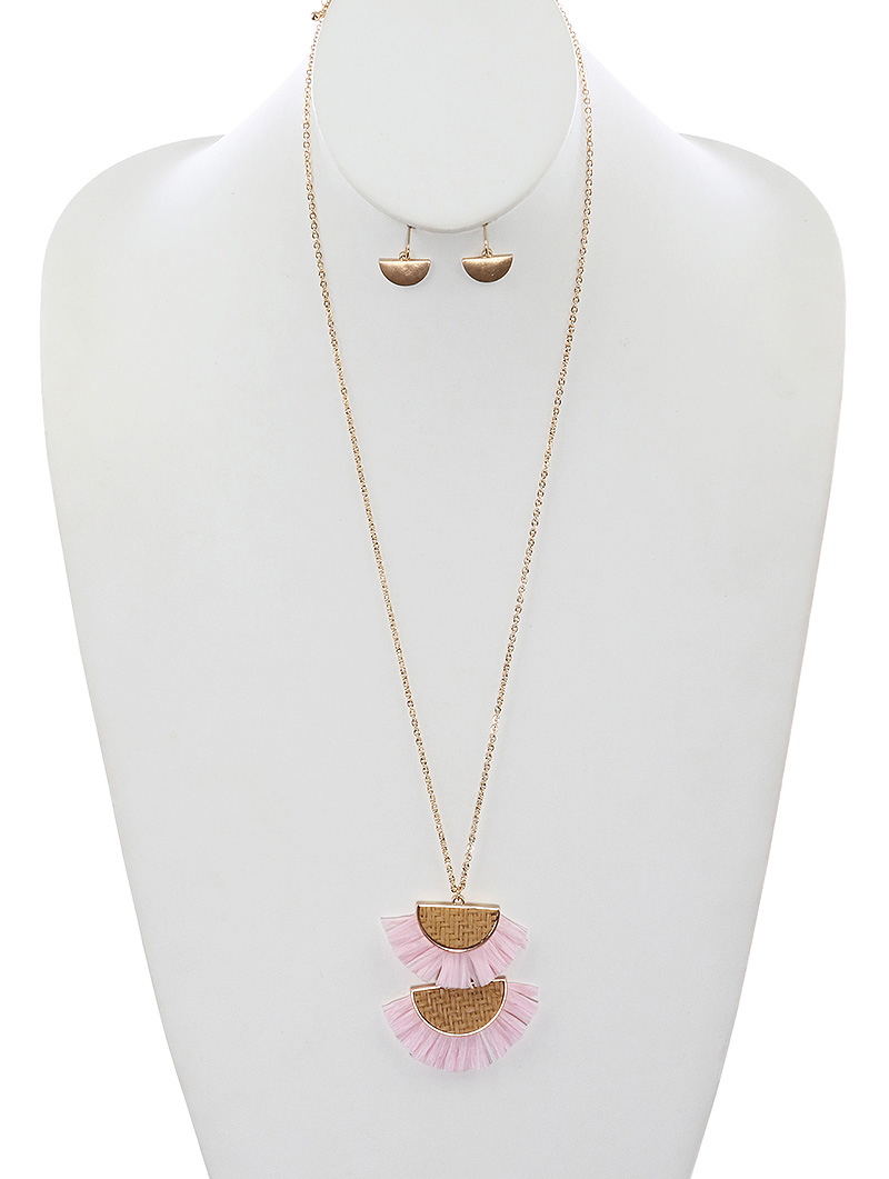 Women Jewelry Necklace Set--PTS126439GDPNK